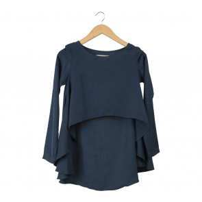 (X)SML Dark Blue Cropped Blouse