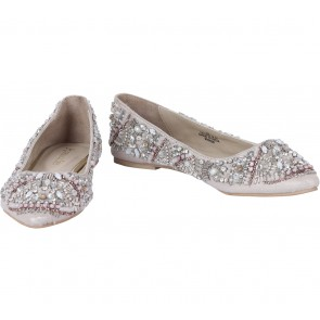 Accessorize Grey Beaded Flats