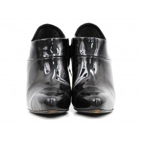 Prada Black Patent Booties