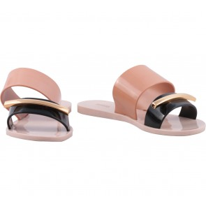 Melissa Pink And Black Sandals