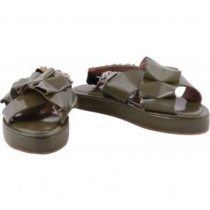 Pvra Dark Green Sandals