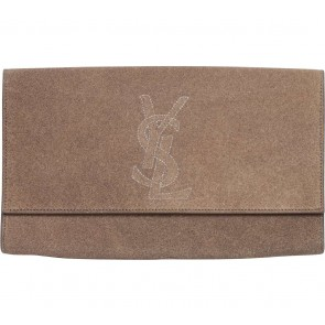 YSL Brown Glittery Clutch