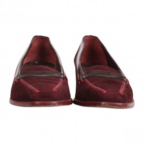 Tod's Maroon Heeled Leofer