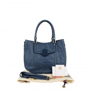 Tory Burch Blue Tote Bag