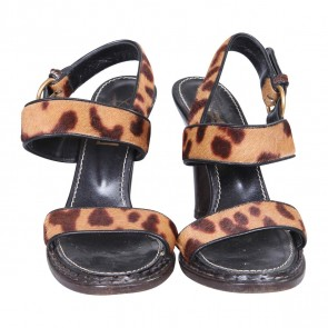 Yves Saint Laurent Brown Sandals
