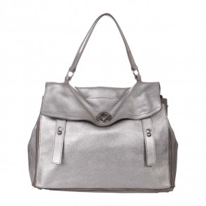 Yves Saint Laurent Silver Shoulder Bag