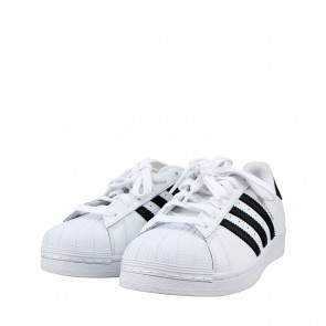 Adidas White Superstar Classic Sneakers