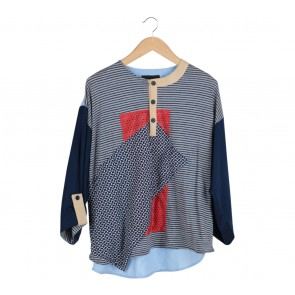 Oline Workrobe Multi Colour Patterned Blouse