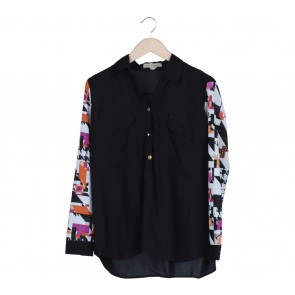 vivvi zubedi Black Abstract Shirt