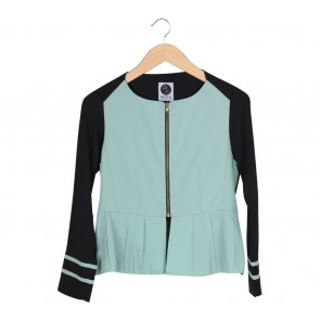 Restu Anggraini Black And Green Jacket