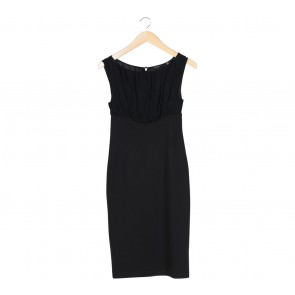 Ted Baker Black Sleeveless Combi Midi Dress