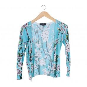 Dolce & Gabbana Blue Floral Cardigan