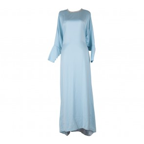 Ria Miranda Blue Tied Caftan Long Dress