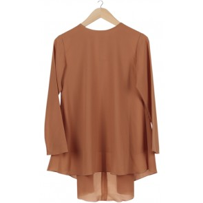Brown Asymmetric Blouse