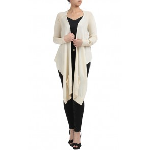 Cream Printed Cardigan