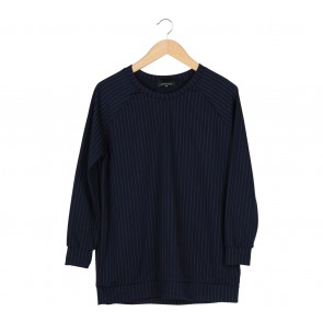 Novierock Dark Blue Striped Sweater