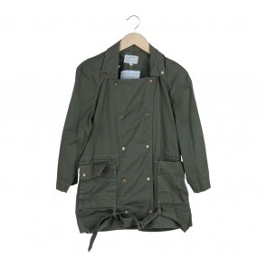 Current/Elliott Dark Green Parka Jacket