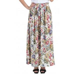 Multi Floral Long Skirt