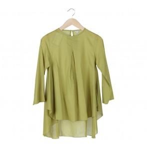 Tara-Tami Green Striped Loose Blouse