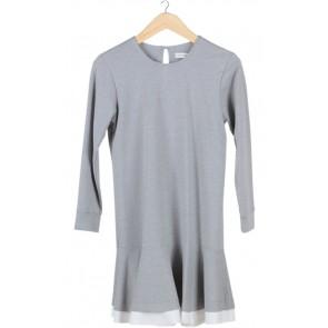 Grey Jersey Midi Dress