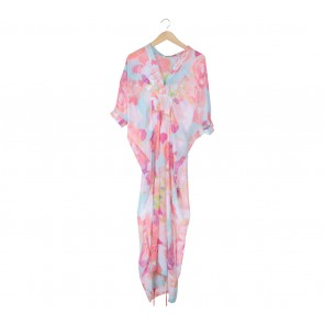 Febianihermaini Multi Colour Floral Tied Caftan Long Dress