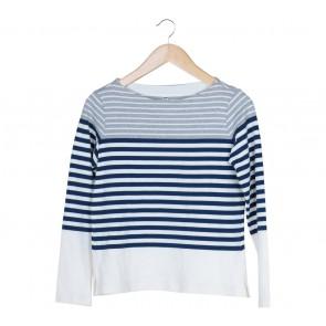 UNIQLO Off White Striped Sweater