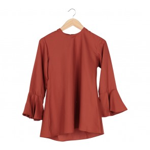 Maja Orange Bell Sleeves Blouse