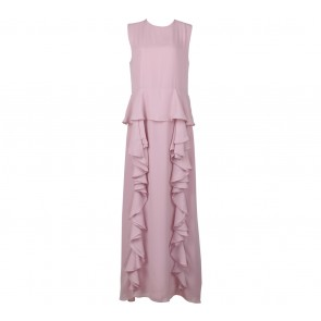 Ria Miranda Pink Sleeveless Long Dress