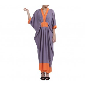 Purple and Orange Kaftan