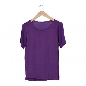 Sportmax Code Purple Combi T-Shirt