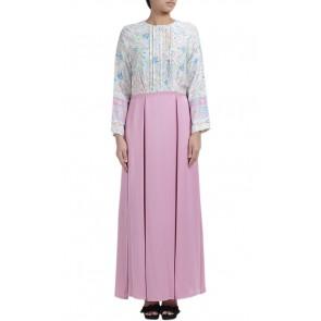 Purple Floral Long Dress