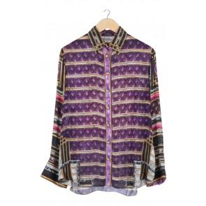Purple Printed Shirt