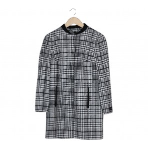 Autograph White And Black Houndstooth Coat