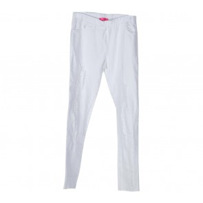 Tutu White Denim Ripped Pants