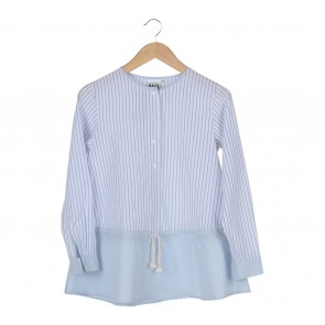Ria Miranda White Striped Blouse