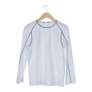 COS White With Black Trim Blouse