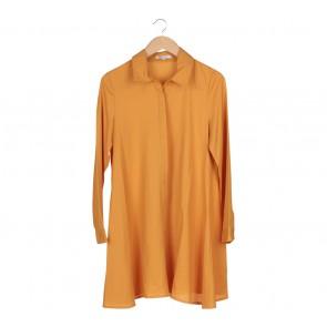 Glamorous Yellow Shirt Midi Dress