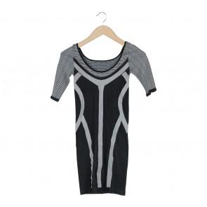 Bebe Black And Grey Mini Dress