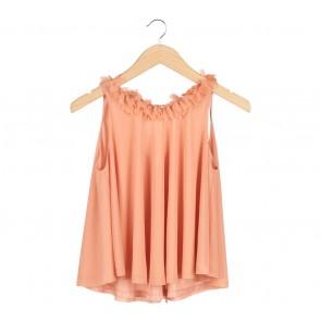 Topshop Orange Sleeveless