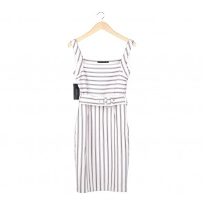 Zara Multi Colour Striped Midi Dress