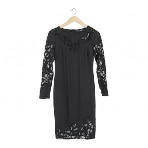 Star by Julienmacdonald Black See Thrue Mini Dress