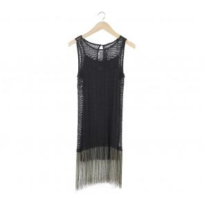 Zara Black Fringe Mini Dress