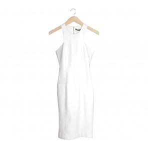 Zara Off White Midi Dress