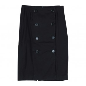 Benetton Black Buttoned Skirt