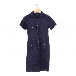 Calvin Klein Dark Blue Buttoned Mini Dress