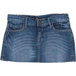 Forever 21 Dark Blue Jeans Ripped Skirt