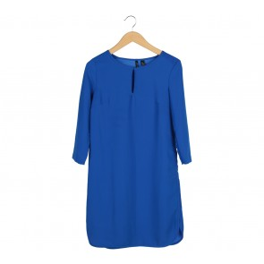 Mango Blue Midi Dress