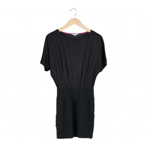 Dressy Black Combi Mini Dress