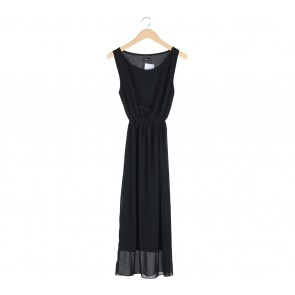 Solitaire Black Long Dress