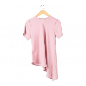 Cotton Ink Pink Asymetric Blouse